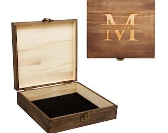 Groomsmen Gift Box, Personalized Cigar Box, Wood Gift Box, Best Man Gift, Groomsmen Gift Set, Wooden Cigar Box