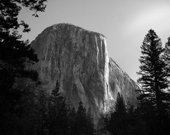 El Capitan, Yosemite Photos, National Parks, Hiker Gifts Rock Climber Gifts Mountain Photos, California Photos Mountain Print National Parks
