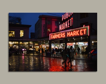 Pike Place Market Photo Print on Canvas