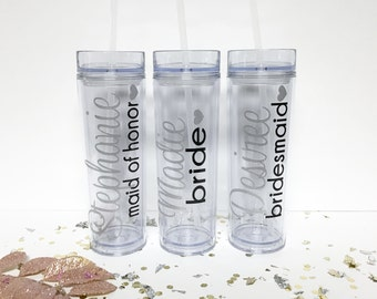 Personalized Tumbler, Bridesmaid Gift, Bridesmaid Tumblers, Personalized Water Bottle, Personalized Tumbler, Personalized Cup,Bridesmaid Cup