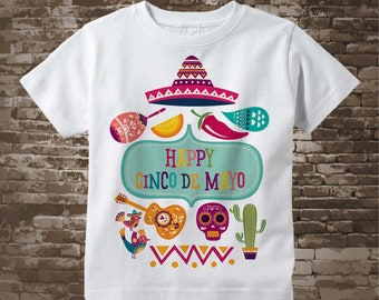 Happy Cinco de Mayo t-shirt or Onesie Bodysuit for kids celebrating May 5th, 04052018d