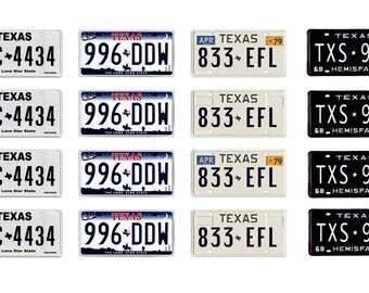 scale model Texas car license tag plates