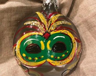 Hand Painted Mardi Gras Ornament, Mardi Gras Ornament, Mardi Gras, Mardi Gras Mask, Christmas Ornament, Mardi Gras Christmas