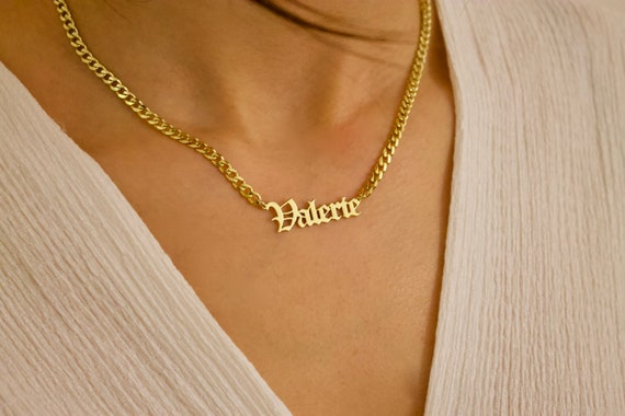 Name necklace gold name necklace personalized name te gusta este artculo aloadofball Gallery