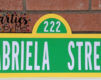 Seasame street Sign,Personalized sesame street sign, Sesame street party, Elmo Birthday, Sesame street