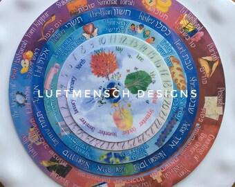 Perpetual Hebrew Calendar Download, PERSONAL Use License, DIY Jewish Calendar, Continuous Calendar, Rhythm Calendar, Hebrew Teacher Gift
