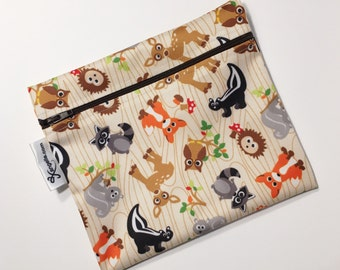 XL Woodland Creatures Reusable Baggie