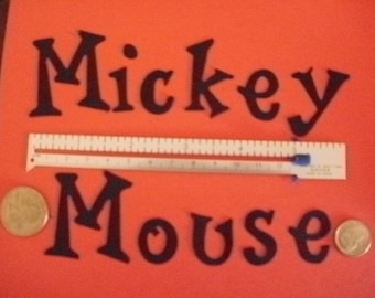 Die Cut Mickey Mouse letters