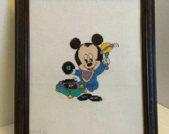 Mickey Mouse inspired Cross Stitch