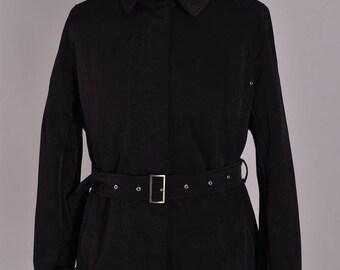 Women's Burberry London Vintage Long Coat Jacket Size 44 L Genuine Casual