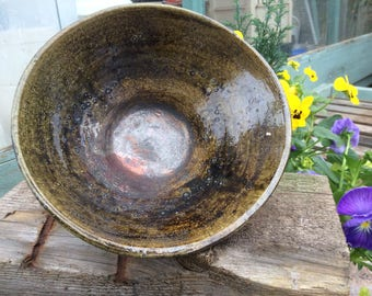 Copper Lustre Raku Bowl