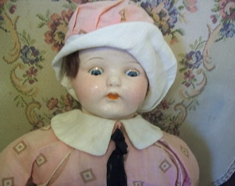 Antique composition baby doll, vintage baby doll,