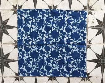 NAPKINS blue cloth napkins block print napkin indigo cotton table linen home kitchen dining table organic cotton napkin Set of 4 - RADHA