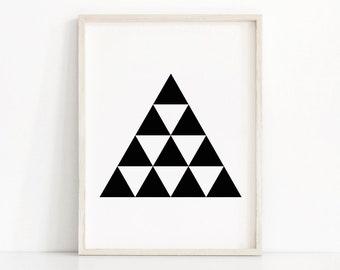 Abstract Geometric Art Print, Modern Print, Printable Black And White Art, Geometric Wall Art, Digital Download Art, Digital Art Printable