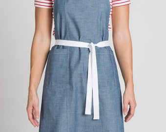 Denim Apron - Japanese Chambray - Denim - Apron