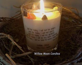 Chakra candle, gemstone candle, reiki charged, reiki candle, spiritual candle, energy candle, meditation candle ,crystal candle,reiki energy