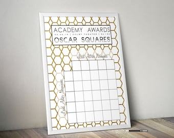 2018 Oscar Party Game Squares / Academy Awards Party Game / Printable / 2018 Academy Awards Pool / Oscars