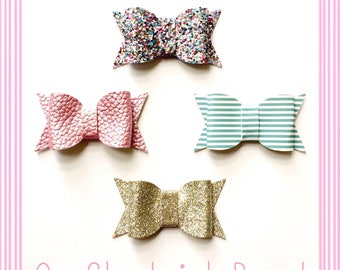 Cotton Candy Chunky Bow Set