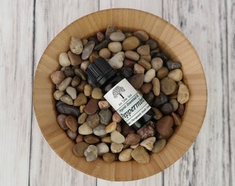 Organic Peppermint Essential Oil • Pure • Therapeutic Grade • Uncut • Awesome • 10ml Amber Glass Bottle With Dropper Caps