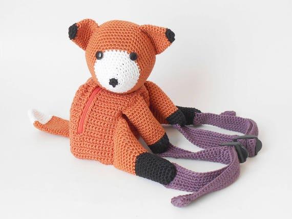 考拉和狐狸背包的钩针编织图案 - 壹一 - 壹一编织博客