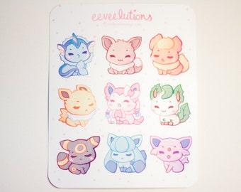 Eeveelution Stickers