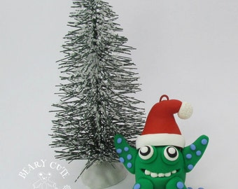 Monster Christmas ornament, Personalized monster ornament