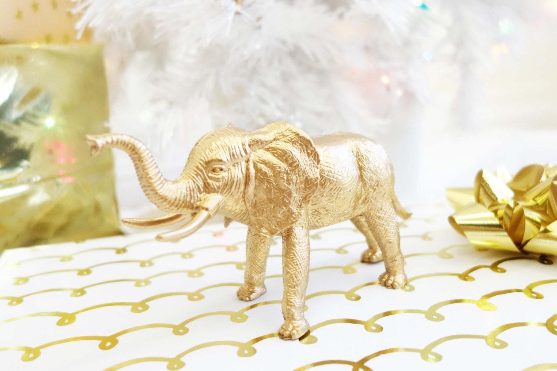 Gold Elephant Decor Light Balloon Weight Accessory # Model Table Telz En Bois