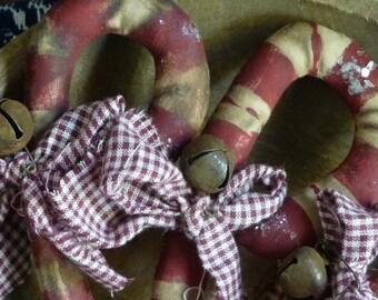 Primitive Folk Art Candy Cane