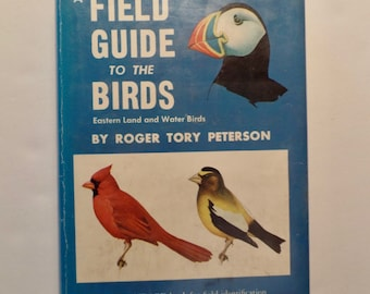 Roger Tory Peterson Field Guide to the Birds Eastern Land and Water Birds 1960s Vintage Hardcover