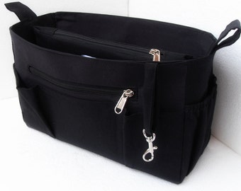 Medium Purse organizer - Bag organizer insert in Black color