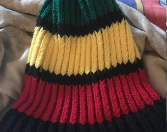 Jamaica inspired knitted hat