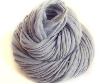 Chunky yarn hand dyed yarn handspun yarn merino wool yarn chunky wool bulky yarn weaving yarn thick and thin yarn handspun art yarn blue