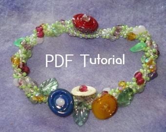 "PDF - ""Divine Vine"" spiral stitch PDF tutorial"