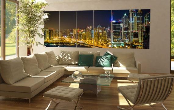 Dubai skyline  canvas Dubai skyline wall decoration Dubai skyline canvas art Dubai skyline large canvas  wall decor