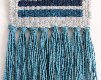 Blue and Gray Stripe Wall Hanging