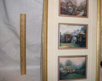 """Listing 060 is the Thomas Kinkade - Limited Profile Edition """"Memories of England"""" Trio/Certificate of Authenticity"""