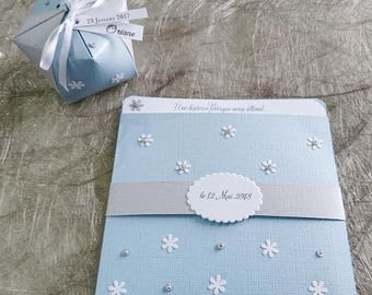 Wedding - Invitation - winter theme invitation, fairy tale - birthday, baptism - colors and flexible theme - stationery KlrKrea