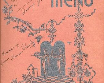 1939 Menu from Zimmerman's Hungaria Restaurant