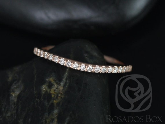 Rosados Box 14kt Matching Band to Giselle Diamonds Halfway Eternity Band