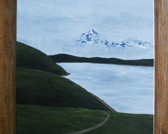 Acrylic Painting - Mountain Painting - Lake Painting