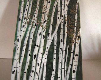 White Birch on Canvas  Trees Landscape Original