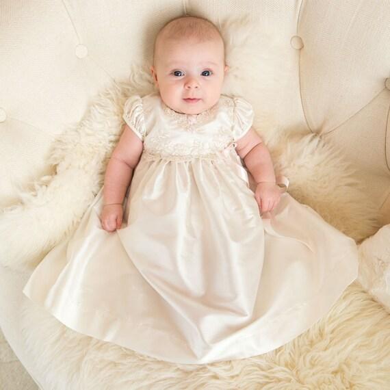 23cdd86a3 SALE Penelope Silk Newborn Dress & Bonnet 0-3 Month Baby