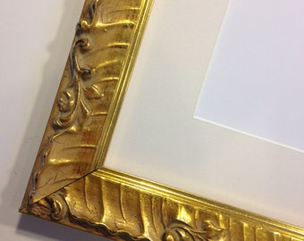 """Fancy Gold Picture Frame 9 x 12""""  -  Ready to Ship"""