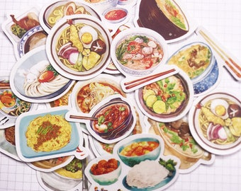24 PCS, Food stickers, Chinese Takeout stickers, Asian Food, Japanese Food, Indian Food, Chinese Cuisine, SK43