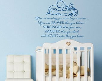 """Custom listing for BK - 36"""" tall and 43"""" wide - Winnie the Pooh and Piglet Wall Decal Quote"""