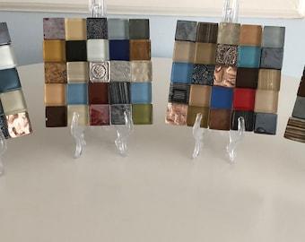 "Glass Tile Coaster Set of 4 ""Paprika"""