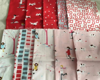 Moda Sherbet Pips Fat Eighth set by Aneela Hoey