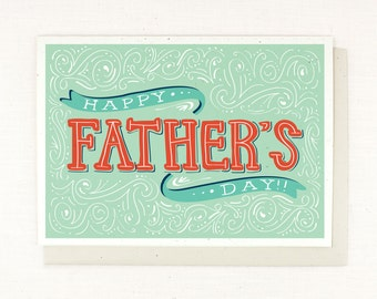 Fathers Day Card - Hand Lettered