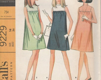 McCall's 9229 Misses' Maternity Dress in Three Versions