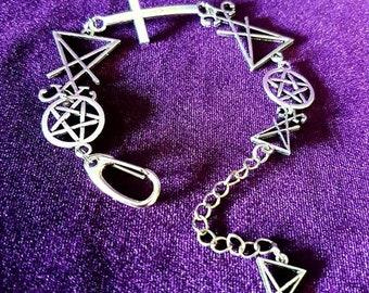 Occult Bracelet - lucifer sigil of lucifer baphomet occult gothic witch black magic infinity fallen angel venus